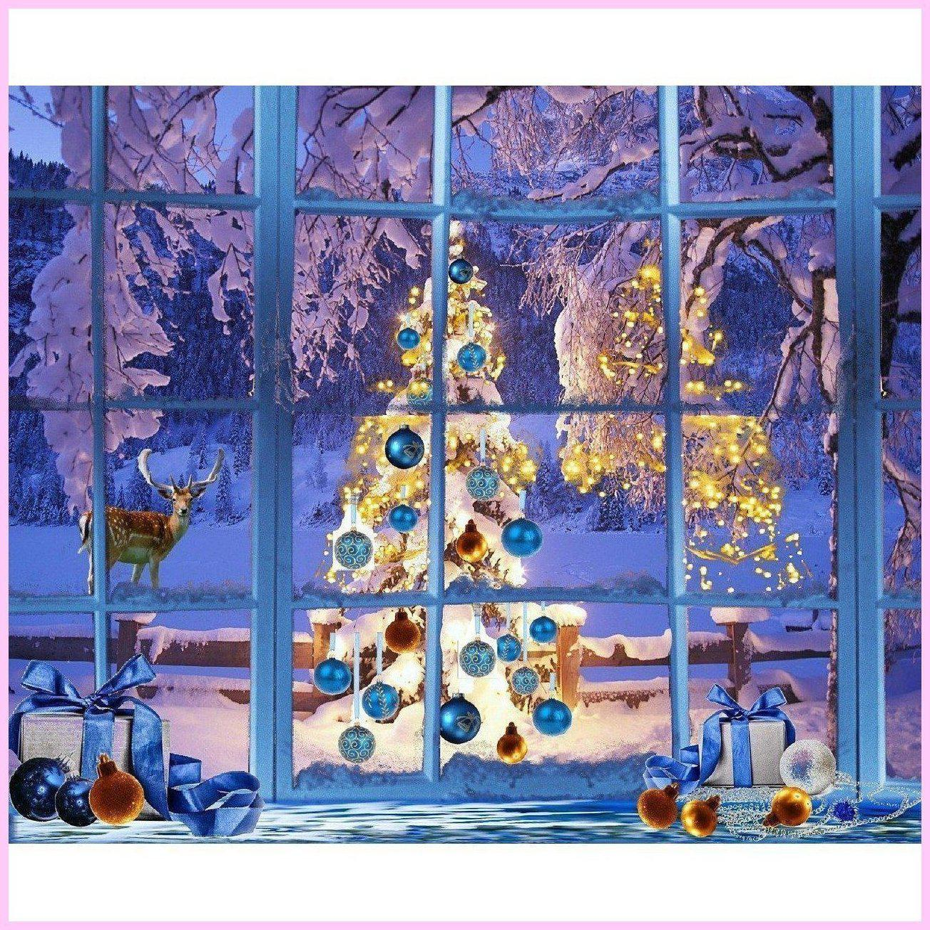 Christmas Through the Window-Diamond Painting Kit-35x40cm (14x16 in)-Square-Heartful Diamonds