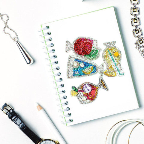 Image of Cocktail Glasses- Diamond Key Chains-Key chain-Heartful Diamonds
