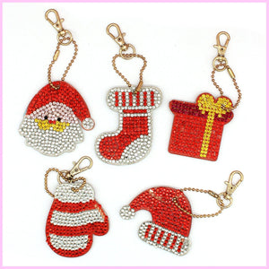 Color Red Themed Diamond Painting Keychains-Key chain-Heartful Diamonds
