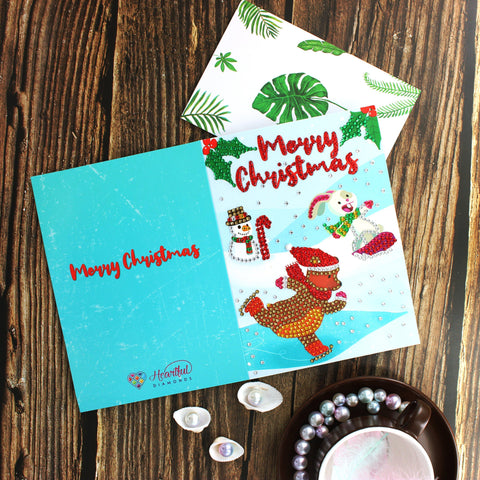 Diamond Christmas Cards - NEW 2019 Limited Edition 1 (4 PACK - International Shipping)-Christmas Cards-4-Pack-Heartful Diamonds