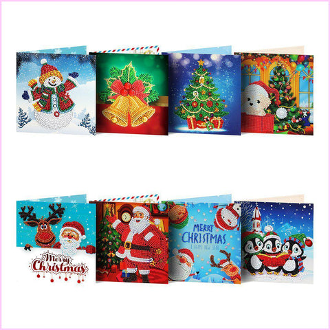 Diamond Christmas Cards - NEW 2019 Original Edition 6 (8 PACK)-Christmas Cards-8-Pack-Heartful Diamonds