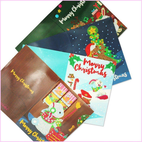Diamond Painting Christmas Cards - Heartful Originals 1 (4 PACK)-Christmas Cards-4-Pack-Heartful Diamonds