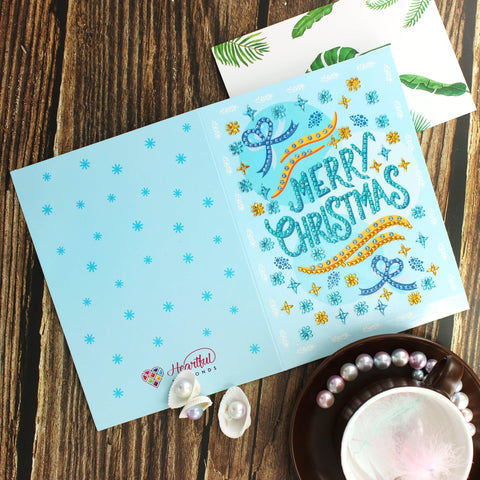 Diamond Painting Christmas Cards - Heartful Originals 2 (4 PACK)-Christmas Cards-4-Pack-Heartful Diamonds