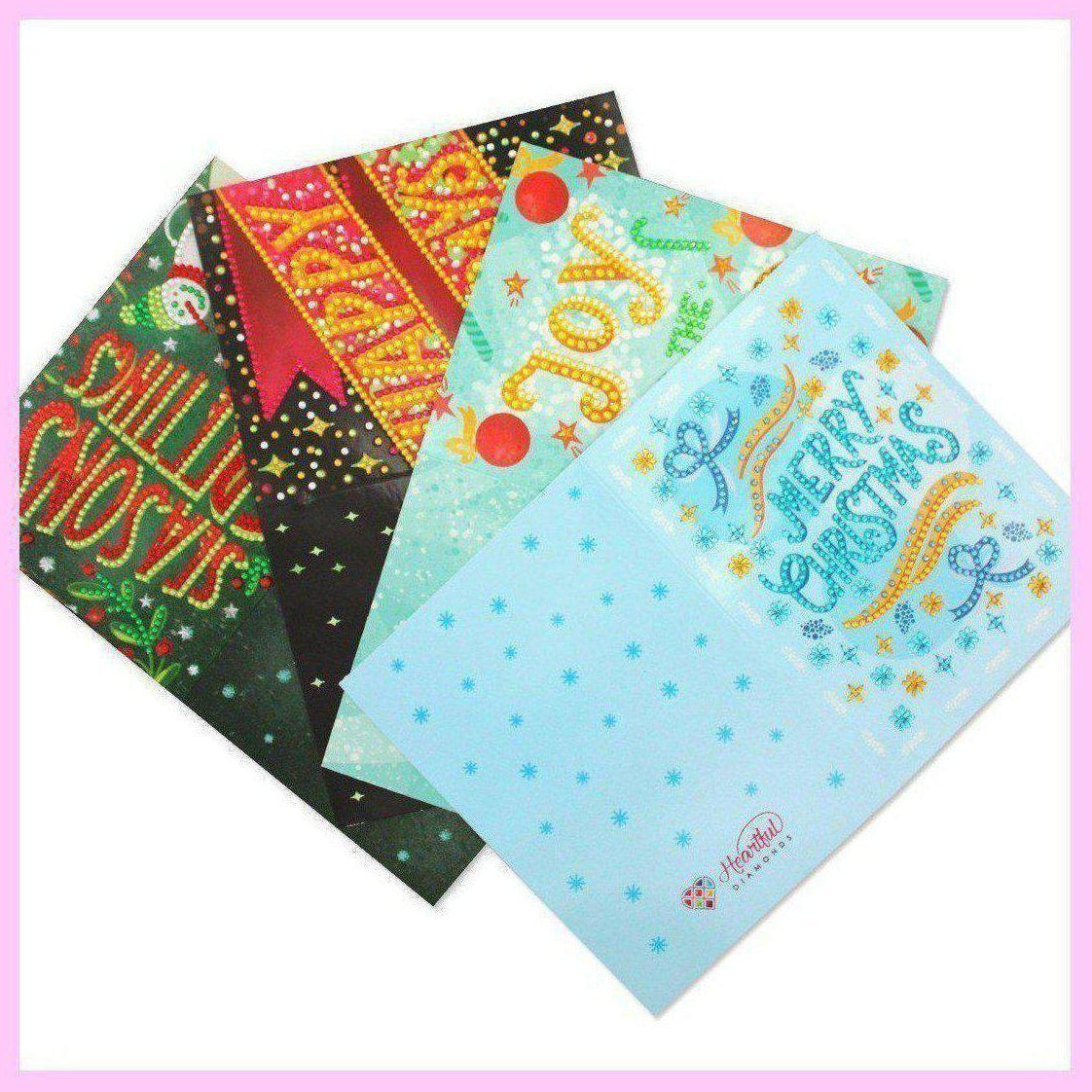 Diamond Art Christmas Cards - Salutations (4 PACK)
