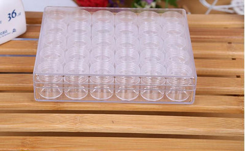 Diamond Storage Jars - Case of 30 Small Jars-Accessories-30pcs-Heartful Diamonds
