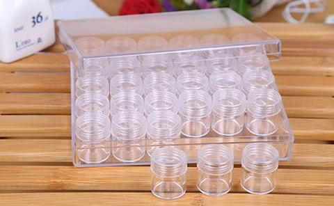 Image of Diamond Storage Jars - Case of 30 Small Jars-Accessories-30pcs-Heartful Diamonds
