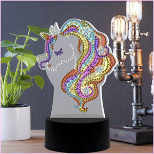 Dreamy Unicorn 3D Night Lamp-3D Night Lamp-Heartful Diamonds