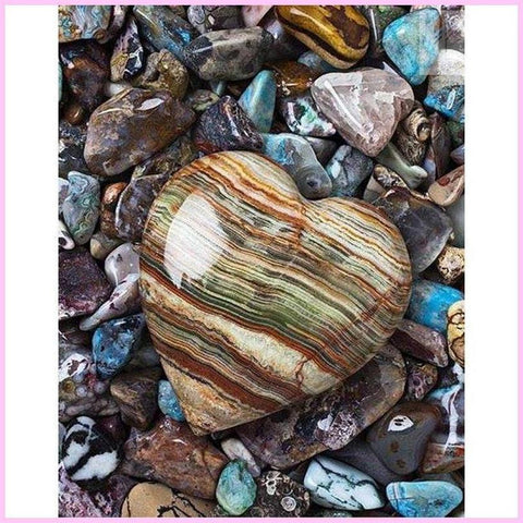 Image of First Love on the Shore-Diamond Painting Kit USPS-30x40cm (12x16 in)-Square-Heartful Diamonds