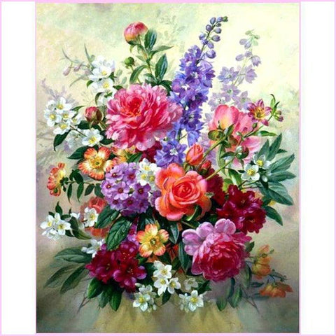 Floral Arrangement-Diamond Painting Kit USPS-30x40cm (12x16 in)-Square-Heartful Diamonds