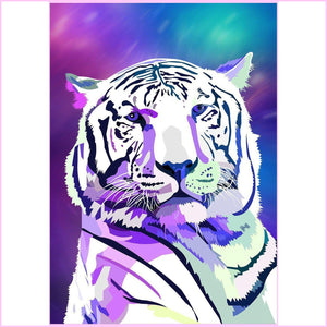 Galaxy Tiger-Diamond Painting Kit USPS-30x40cm (12x16 in)-Square-Heartful Diamonds