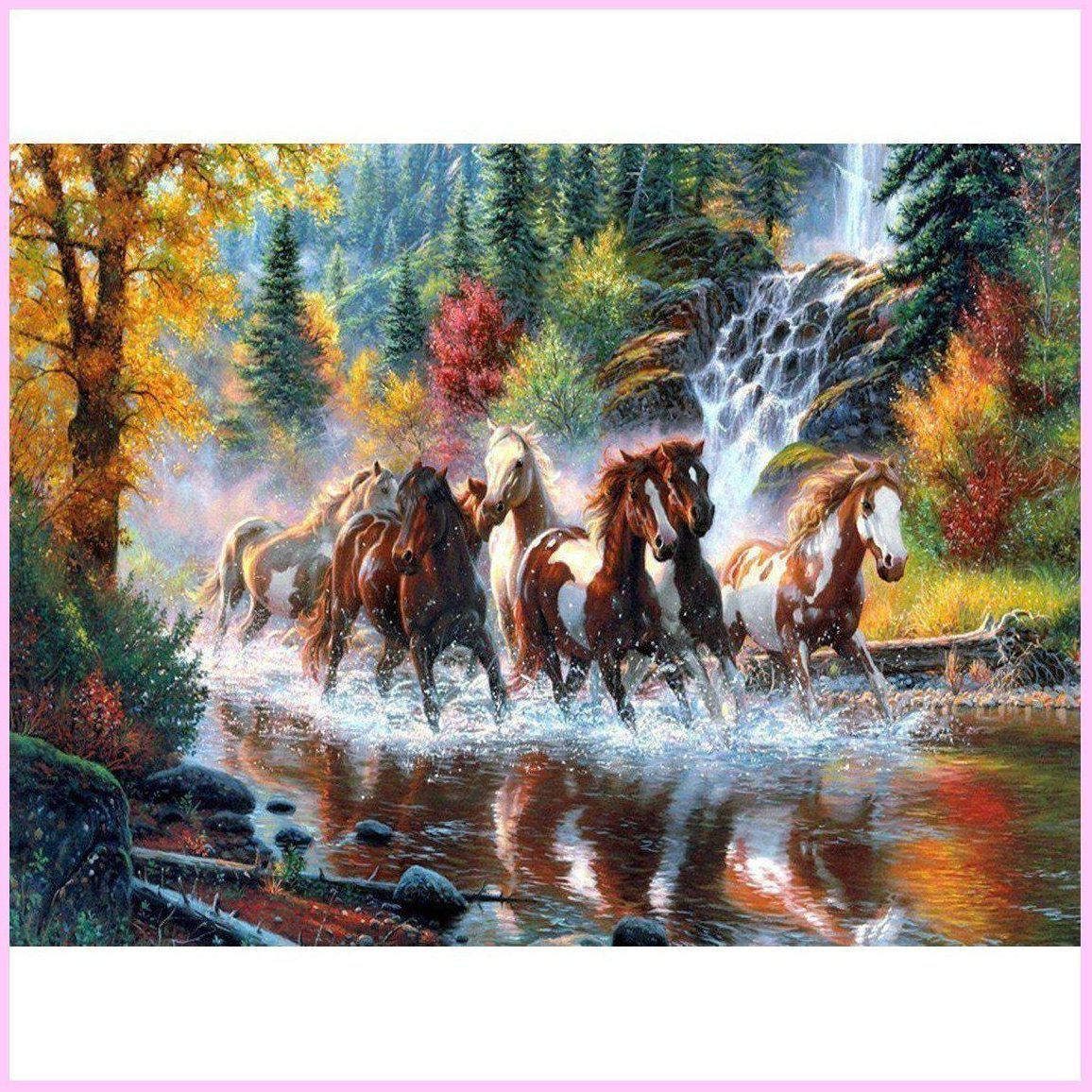 Galloping to Freedom-Diamond Painting Kit USPS-30x40cm (12x16 in)-Square-Heartful Diamonds