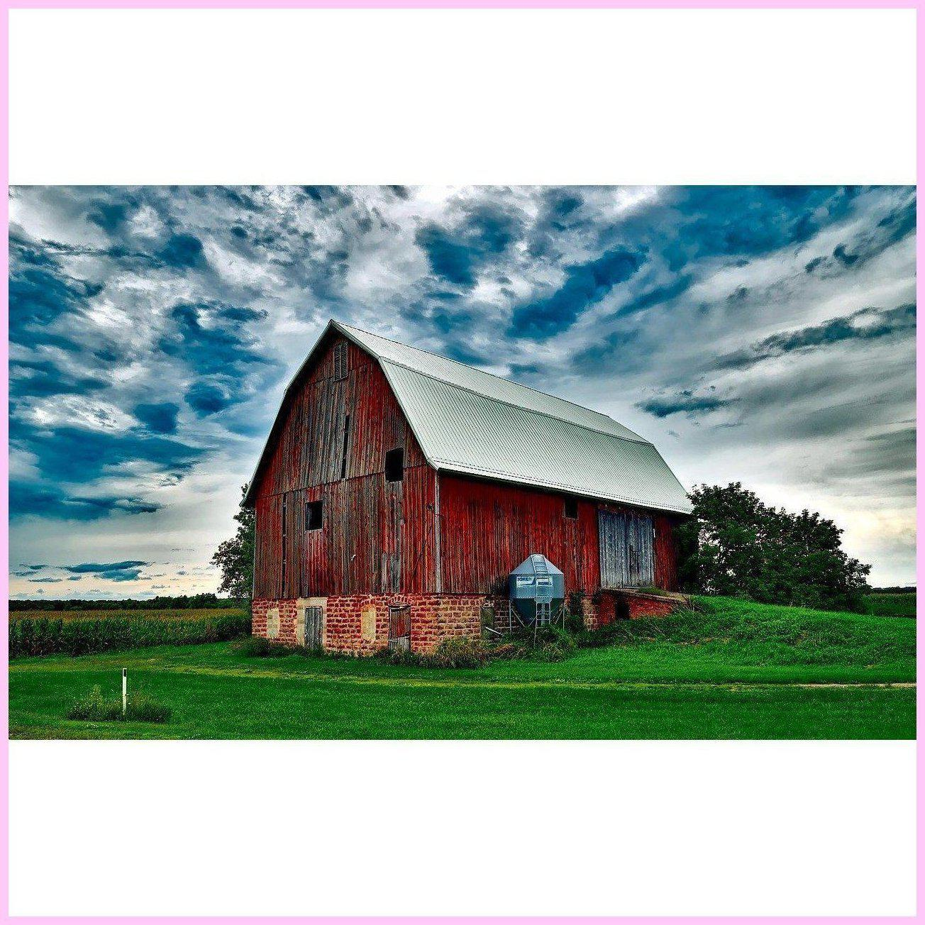 Gloomy Day at the Farm-Diamond Painting Kit-25x40cm (10x16 in)-Square-Heartful Diamonds