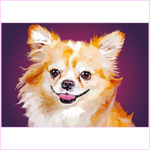 Glowing Chihuahua-Diamond Painting Kit-35x50cm (14x20 in)-Square-Heartful Diamonds