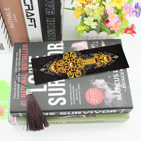 Golden Cross - Diamond Painting Bookmark-Bookmark-Heartful Diamonds