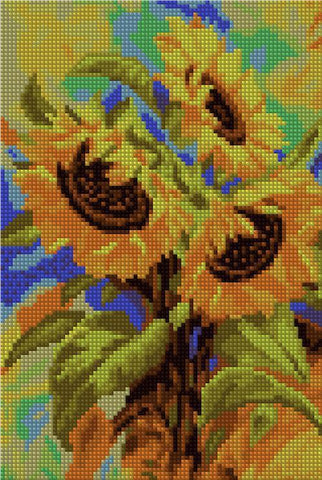 Golden Sunflowers - Starter Edition-Starter Kit-20x30cm (8x12 in)-Heartful Diamonds