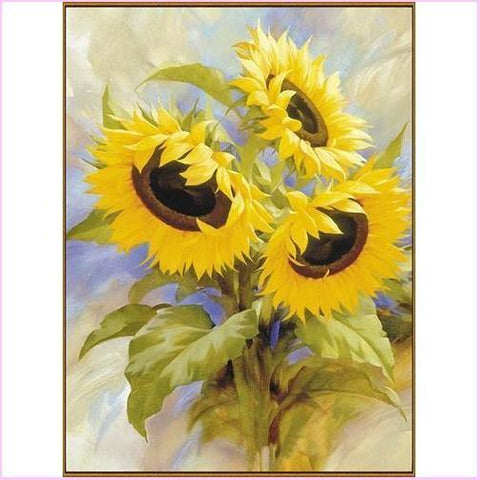 Image of Golden Sunflowers - Starter Edition-Starter Kit-20x30cm (8x12 in)-Heartful Diamonds