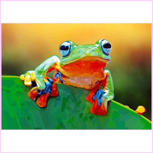 Hanging Tree Frog-Diamond Painting Kit USPS-35x50cm (14x20 in)-Square-Heartful Diamonds