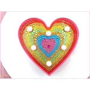 Heart - Glass Sand-Marquee Light-Heartful Diamonds