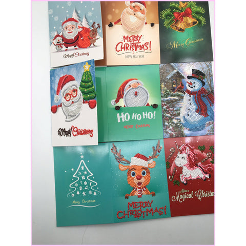 Holiday Christmas Card 5D Diamond Painting (PACK OF 8)-Christmas Cards-Heartful Diamonds