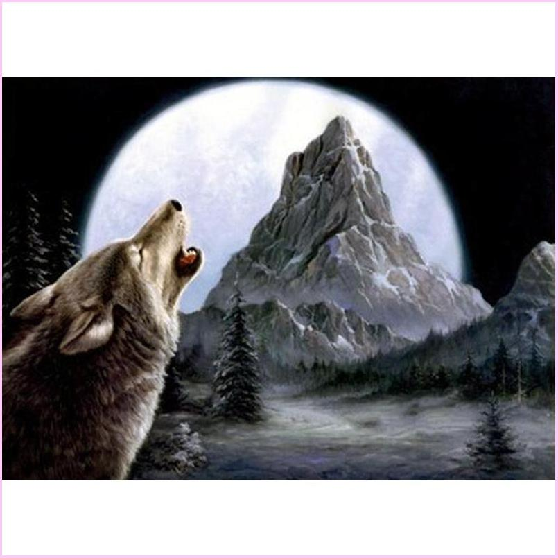 Howling Wolf - Starter Edition-Starter Kit-Howling Wolf-20x30cm (8x12 in)-Heartful Diamonds