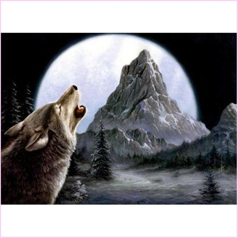 Image of Howling Wolf - Starter Edition-Starter Kit-Howling Wolf-20x30cm (8x12 in)-Heartful Diamonds