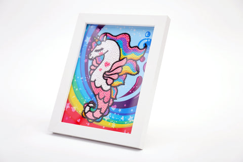 "Kids ""Pebbles"" Diamond Painting - Fabulous Seahorse-Special Diamond Painting Kit-Heartful Diamonds"