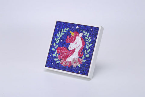 "Kids ""Pebbles"" Diamond Painting - Glamorous Unicorn-Special Diamond Painting Kit-Heartful Diamonds"