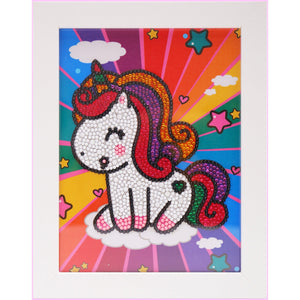 "Kids ""Pebbles"" Diamond Painting - Laughing Unicorn-Special Diamond Painting Kit-Heartful Diamonds"