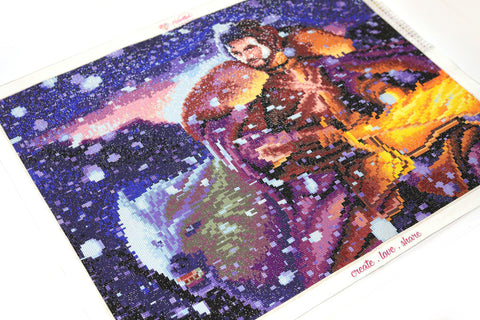 Image of King in the North (CLEARANCE)-Diamond Painting Kit RSL-Heartful Diamonds