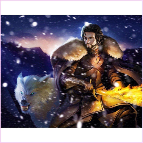 King in the North (CLEARANCE)-Diamond Painting Kit RSL-40x50cm (16x20 in)-Heartful Diamonds
