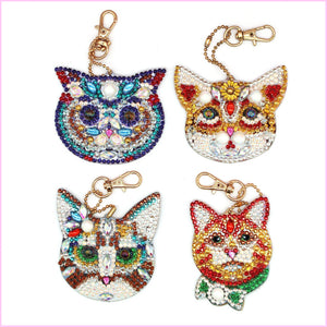Kitty Cats - Diamond Key Chains-Key chain-Heartful Diamonds