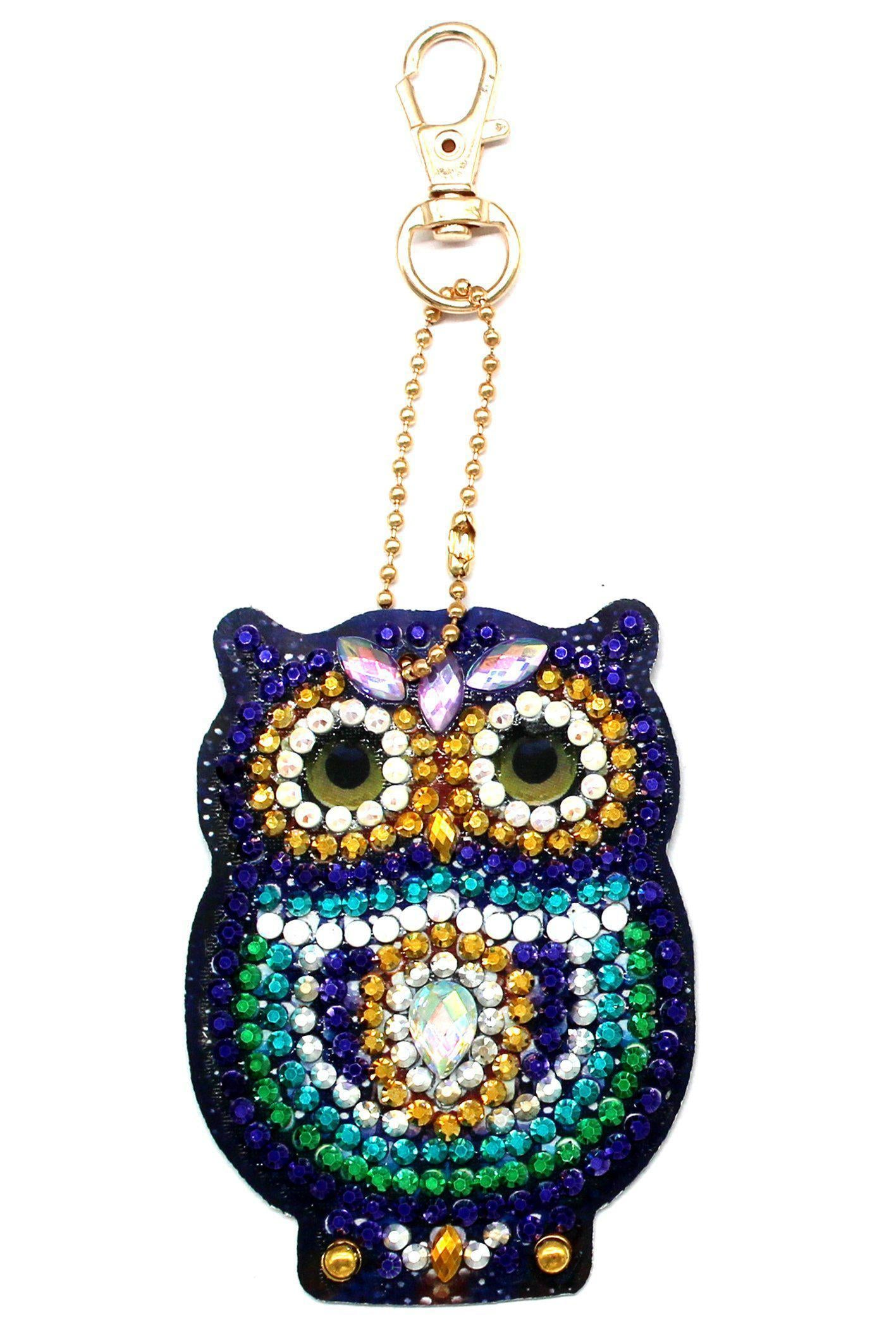 Little Owls - Diamond Key Chains-Key chain-Heartful Diamonds