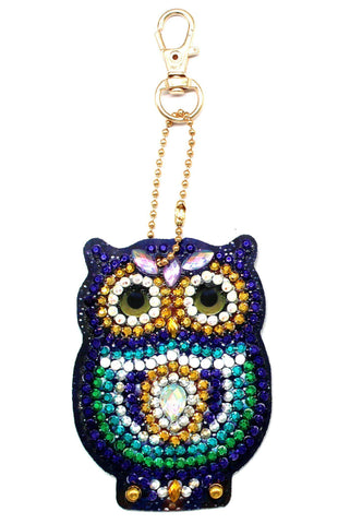 Image of Little Owls - Diamond Key Chains-Key chain-Heartful Diamonds