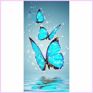 Magic Butterflies Alighting on a Spring-Diamond Painting Kit-20x40cm (8x16 in)-Square-Heartful Diamonds
