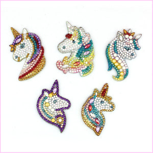 Magic Unicorns - Diamond Key Chains-Key chain-Heartful Diamonds
