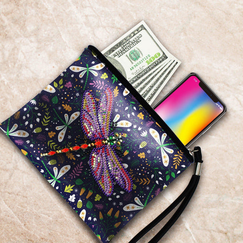 Magical Dragonfly Diamond Painting Purse-Purse-Heartful Diamonds