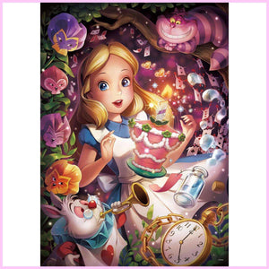 Magical Land of Alice-Diamond Painting Kit USPS-30x40cm (12x16 in)-Square-Heartful Diamonds