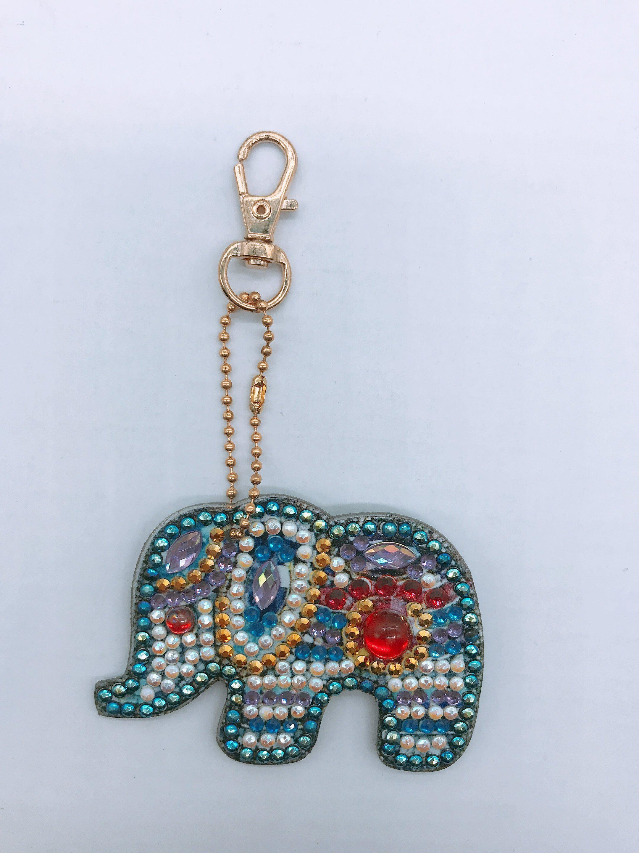 Majestic Elephants 1 - Diamond Key Chains-Key chain-Heartful Diamonds