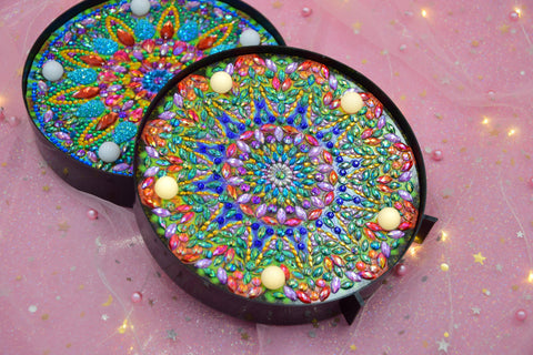 Image of Mandala - Floral Dark-Marquee Light-Heartful Diamonds