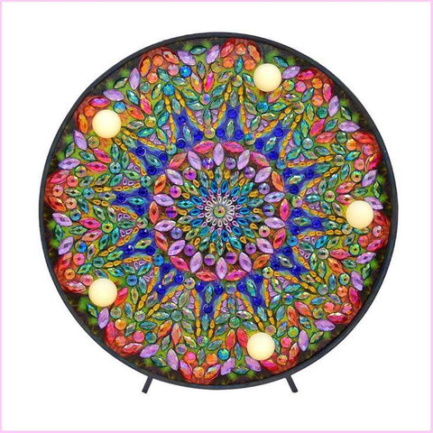 Mandala - Floral Dark-Marquee Light-Heartful Diamonds