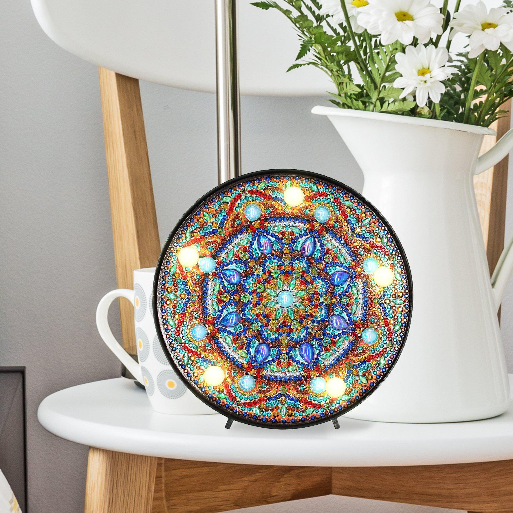 Mandala - Turquoise Accent-Marquee Light-Heartful Diamonds