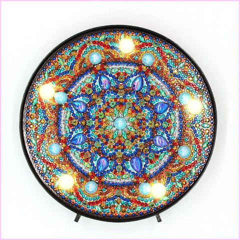 Image of Mandala - Turquoise Accent-Marquee Light-Heartful Diamonds
