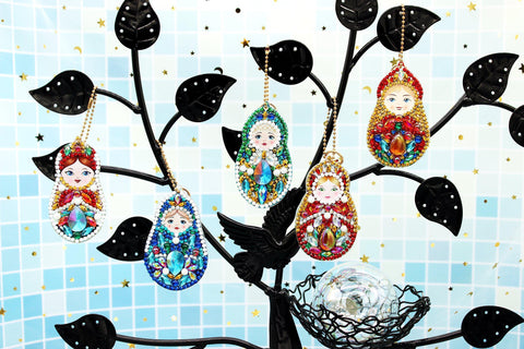 Image of Matryoshka Dolls (Maternity) - Diamond Key Chains-Key chain-Heartful Diamonds