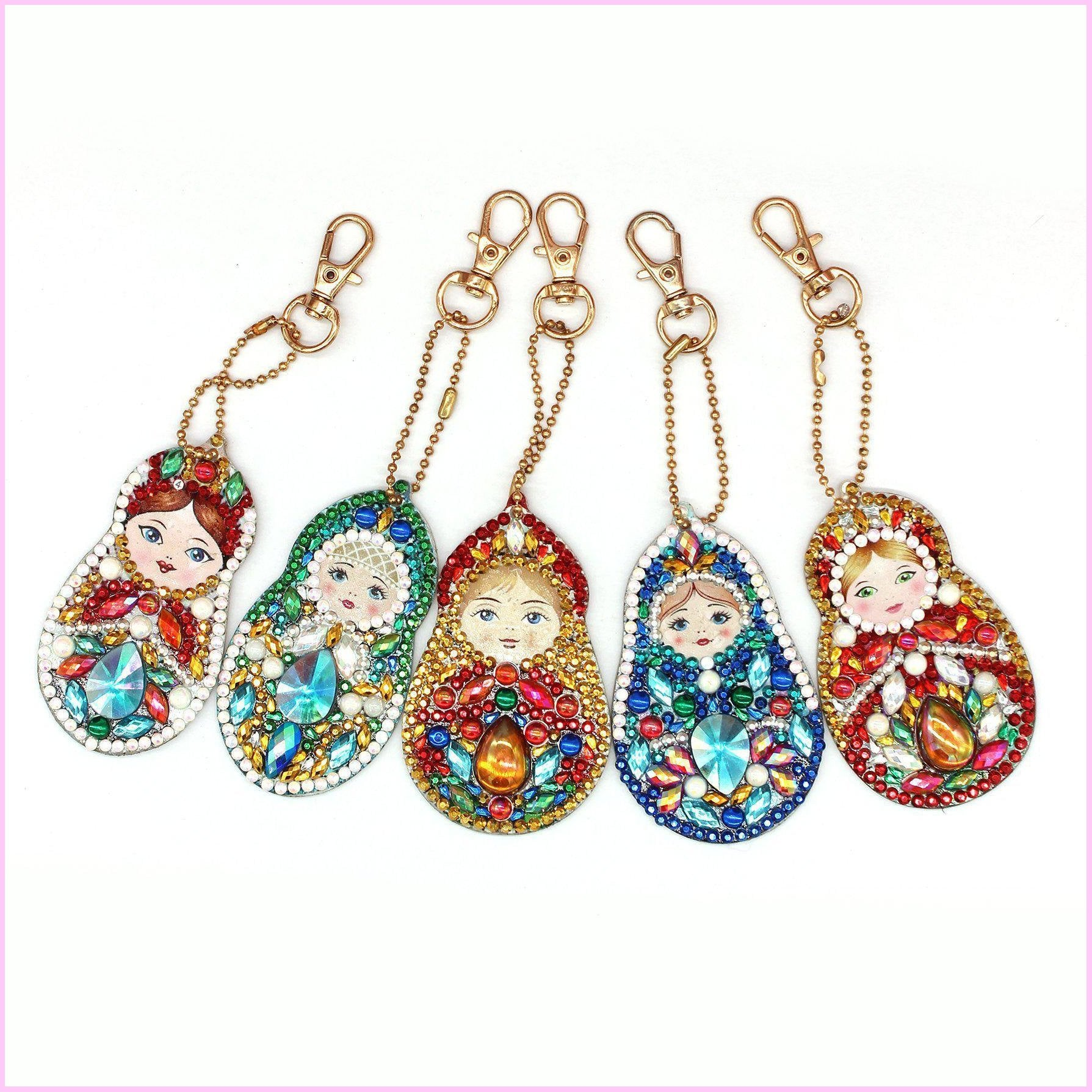 Matryoshka Dolls (Maternity) - Diamond Key Chains-Key chain-Heartful Diamonds