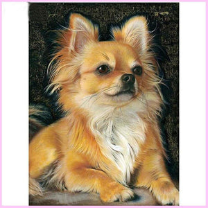 Mighty Chihuahua-Diamond Painting Kit-30x40cm (12x16 in)-Square-Heartful Diamonds