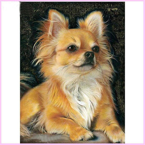 Image of Mighty Chihuahua-Diamond Painting Kit-30x40cm (12x16 in)-Square-Heartful Diamonds