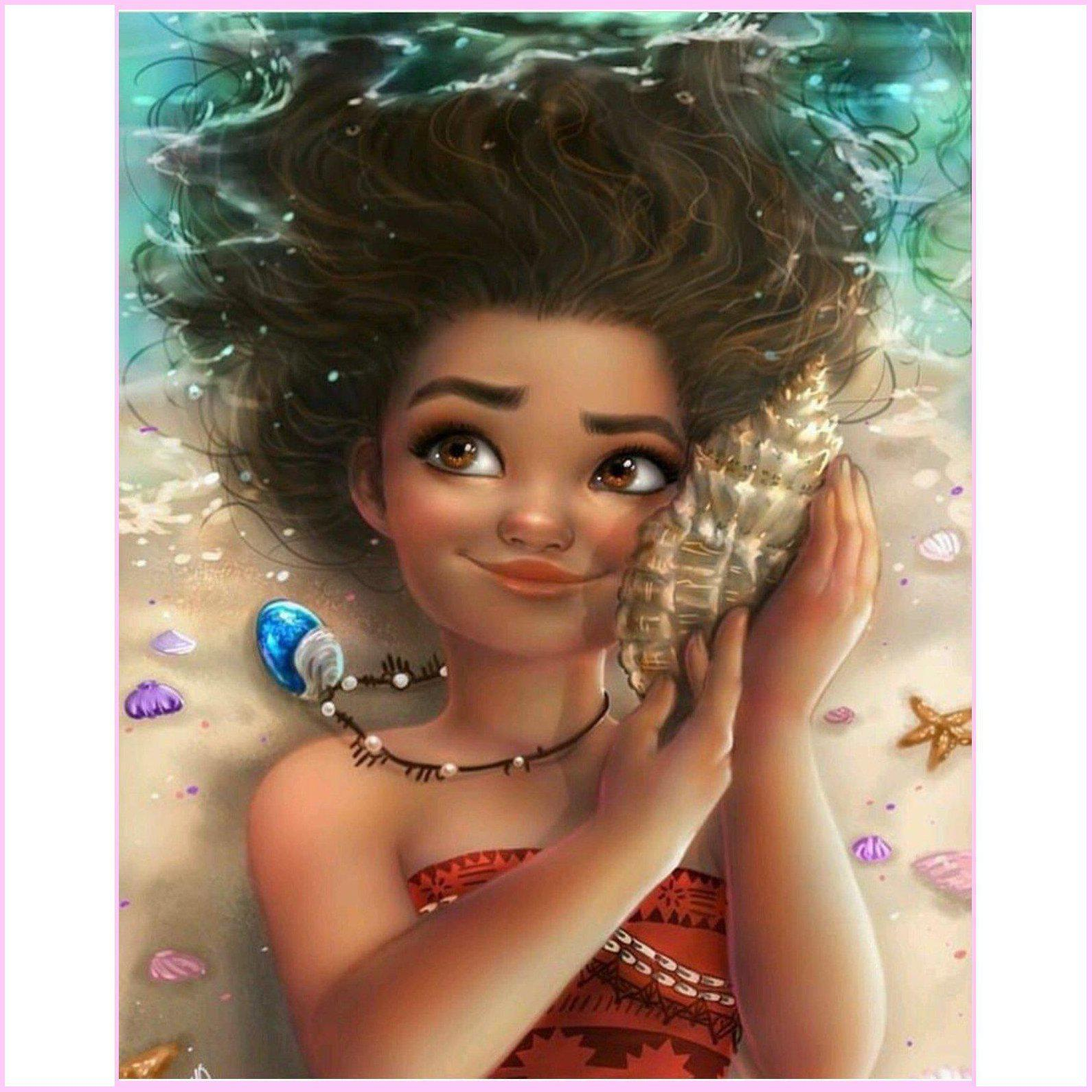 Moana-Diamond Painting Kit USPS-30x40cm (12x16 in)-Square-Heartful Diamonds