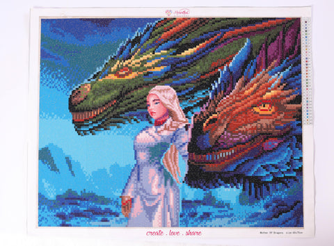 Image of Mother of Dragons (CLEARANCE)-Diamond Painting Kit RSL-Heartful Diamonds