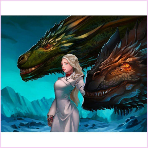 Image of Mother of Dragons (CLEARANCE)-Diamond Painting Kit RSL-60x75cm (24x30 in)-Heartful Diamonds