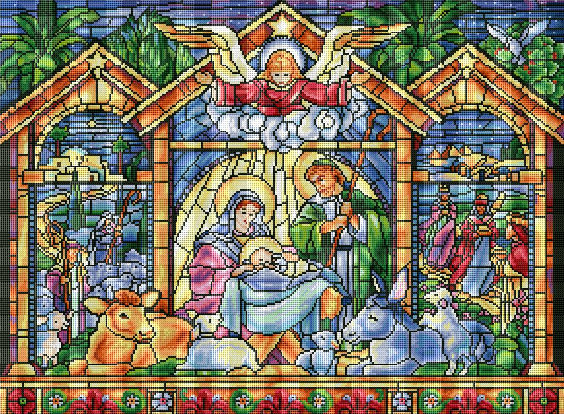 Nativity Scene - Stained Glass Edition